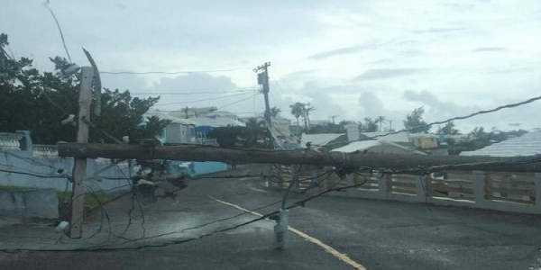 Power Outage Resulting from Downed Utility Pole