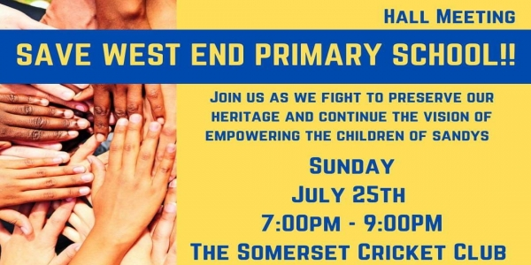 Save West End Primary School Town Hall Meeting Scheduled