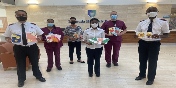 Salvation Army Leads Card Drive for the Island's Nurses