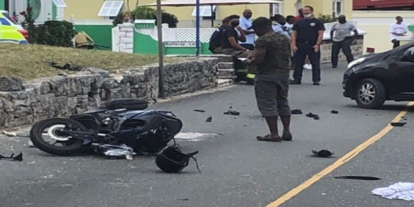 21-Year-Old Motorcyclist Hospitalised After Sandys Parish Collision