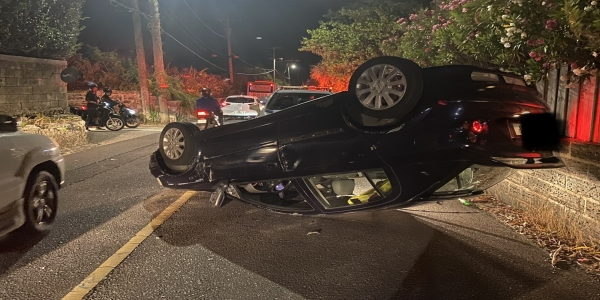 Man Arrested On Suspicious Of DUI After  Overturned Car Accident