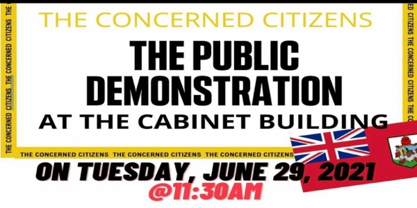 Peaceful Public Demonstration Call For By The Concern Citizens of Bermuda: