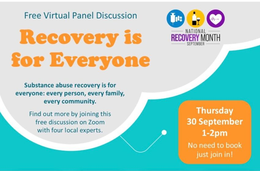 Free virtual panel to inspire recovery from substance abuse