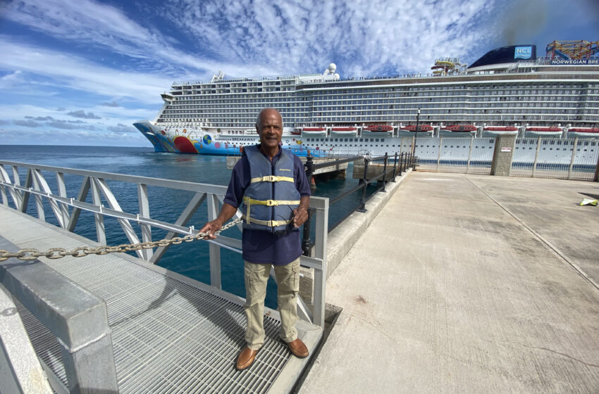 Lineman Excited as Cruise Ships Slowly Return to Island's Shores After 18 Months Absent